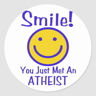 Atheist Smiley Round Sticker