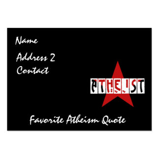 Atheist Star Large Business Card