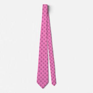 Atheist symbol: black on light pink tie