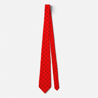 Atheist symbol: black on red tie
