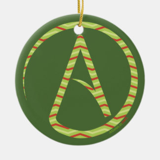 Atheist Symbol Tree Ornament