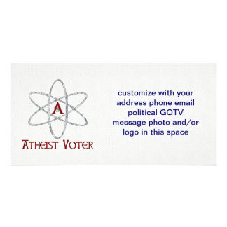 ATHEIST VOTER PERSONALIZED PHOTO CARD