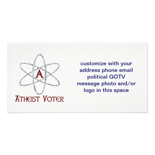 ATHEIST VOTER CUSTOM PHOTO CARD