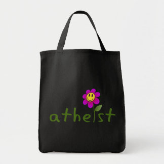 Atheist (with happy flower) Bags