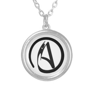 AtheistHumanist Silver Plated Necklace