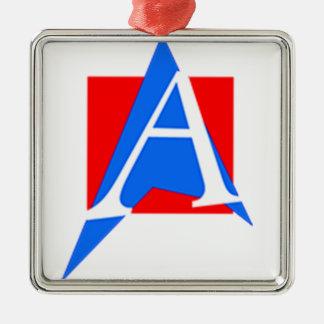 Atheistic of Puerto Rico Silver-Colored Square Ornament