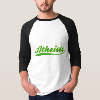Atheists Faux Baseball Jersey T-Shirt