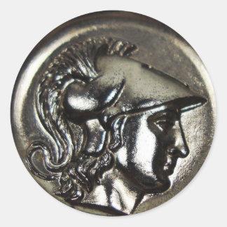 Athena 1 classic round sticker