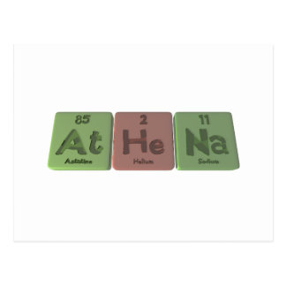 Athena as Astatine Helium Sodium Postcard