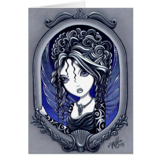 """Athena"" Gothic Tattoo Fairy Art Card"