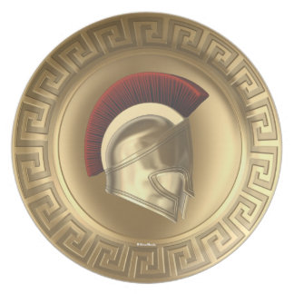 Athena Greek Goddess Shield Helmet Plate
