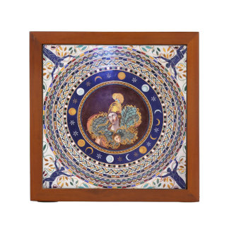 Athena mosaic in the Vatican Museums Desk Organizer