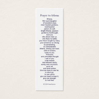 Athena Prayer Card