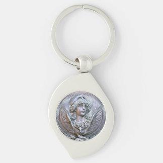 Athena Shield Keychain