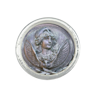Athena Shield Photo Ring