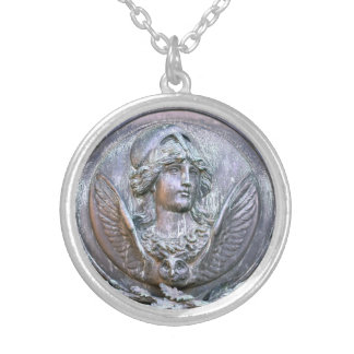 Athena Shield Silver Plated Necklace