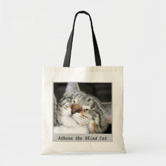 Athena the Blind Cat Tote Bag