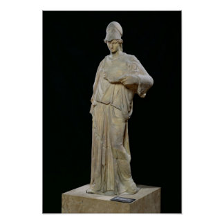 Athena with a cist, Roman copy of a 4th century Poster