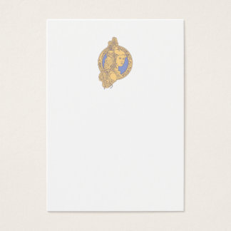 Athena with Owl on Shoulder Circuit Circle Mono Li Business Card
