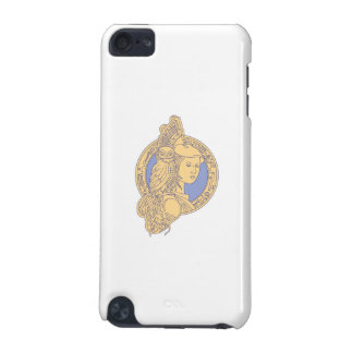 Athena with Owl on Shoulder Circuit Circle Mono Li iPod Touch 5G Covers