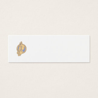Athena with Owl on Shoulder Circuit Circle Mono Li Mini Business Card