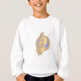 Athena with Owl on Shoulder Circuit Circle Mono Li Sweatshirt