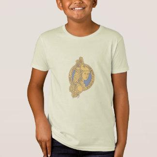 Athena with Owl on Shoulder Circuit Circle Mono Li T-Shirt