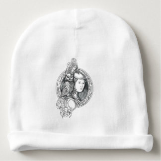 Athena with Owl on Shoulder Electronic Circuit Cir Baby Beanie
