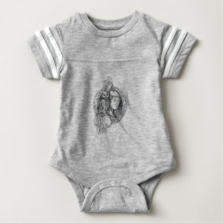 Athena with Owl on Shoulder Electronic Circuit Cir Baby Bodysuit