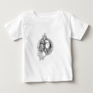 Athena with Owl on Shoulder Electronic Circuit Cir Baby T-Shirt