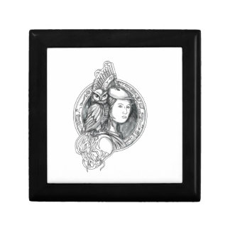 Athena with Owl on Shoulder Electronic Circuit Cir Gift Box