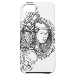 Athena with Owl on Shoulder Electronic Circuit Cir iPhone 5 Case