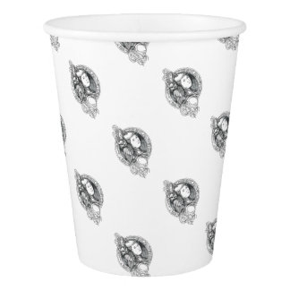 Athena with Owl on Shoulder Electronic Circuit Cir Paper Cup