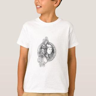 Athena with Owl on Shoulder Electronic Circuit Cir T-Shirt