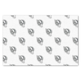 Athena with Owl on Shoulder Electronic Circuit Cir Tissue Paper