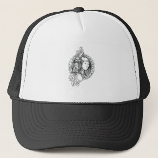 Athena with Owl on Shoulder Electronic Circuit Cir Trucker Hat