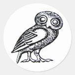 Athena's Owl Stickers