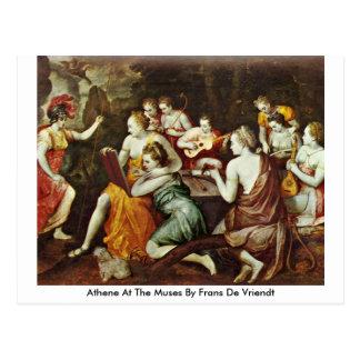 Athene At The Muses By Frans De Vriendt Postcard