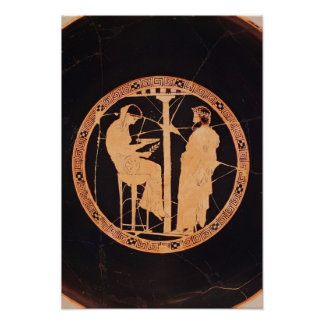 Athenian red-figure kylix depicting Aegeus Poster