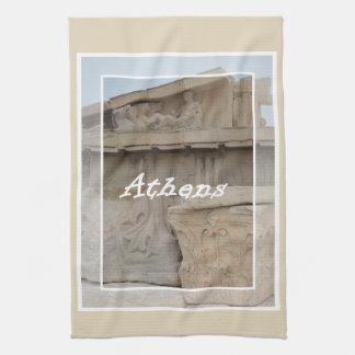 Athens Acropolis postcard Kitchen Towel