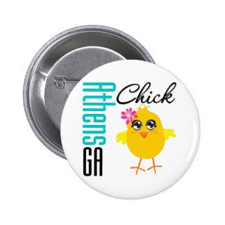 Athens GA Chick Pinback Buttons