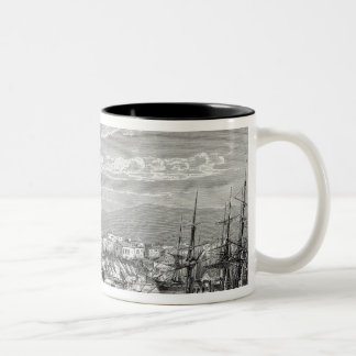 Athens: general view of the Piraeus, Two-Tone Coffee Mug