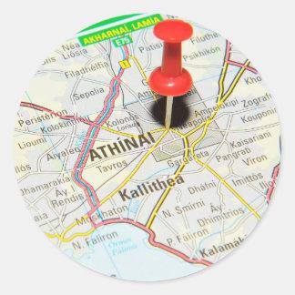 Athens, Greece Classic Round Sticker