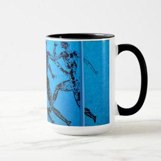 Athens Marathon Blue Print Mug