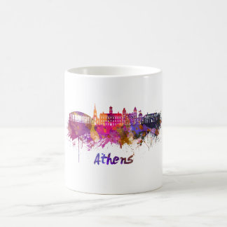Athens OH skyline in watercolor Coffee Mug