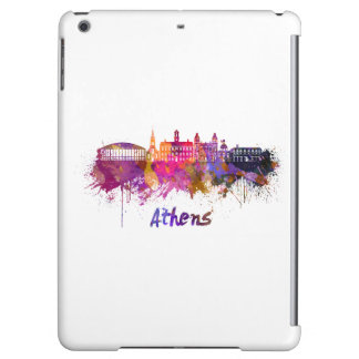 Athens OH skyline in watercolor Cover For iPad Air