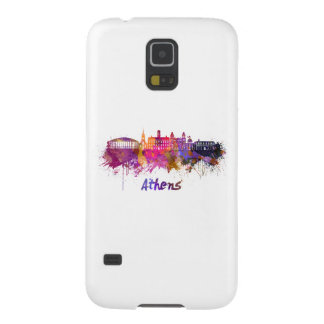Athens OH skyline in watercolor Galaxy S5 Covers