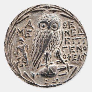 Athens Silver Tetradrachm Classic Round Sticker