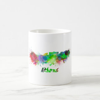 Athens skyline in watercolor coffee mug
