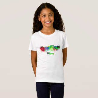 Athens skyline in watercolor T-Shirt
